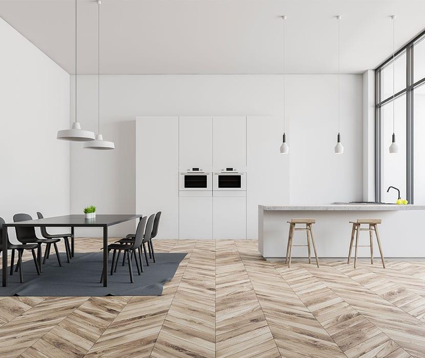 Holzboden-Kueche