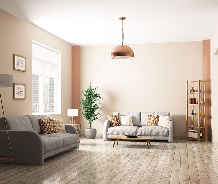Holzboden-Wohnzimmer